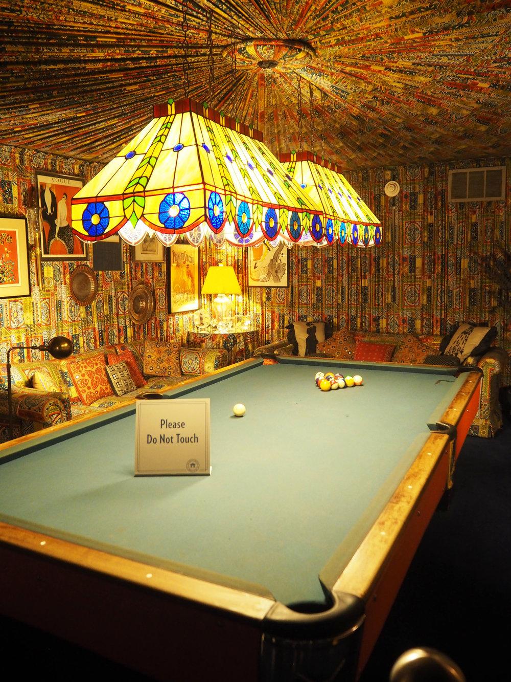 Elvis Presley | Graceland. The billiard Room. Designer Bill Eubanks helped design the pool room at Graceland.
