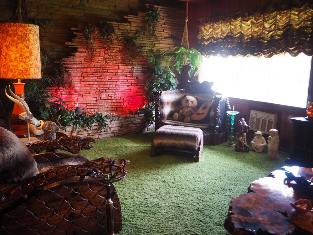 Elvis Presley | Graceland. The jungle themed room at Graceland. Click for more photos.