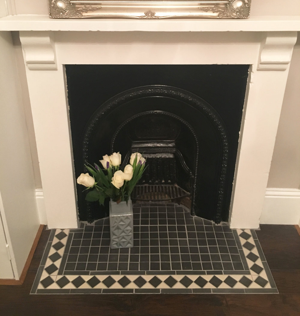 tiled hearth
