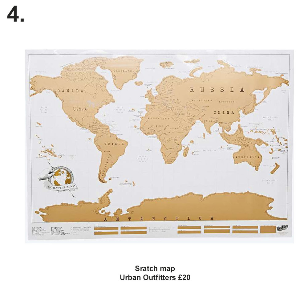 Sratch Map £20 from Urban Outfitters