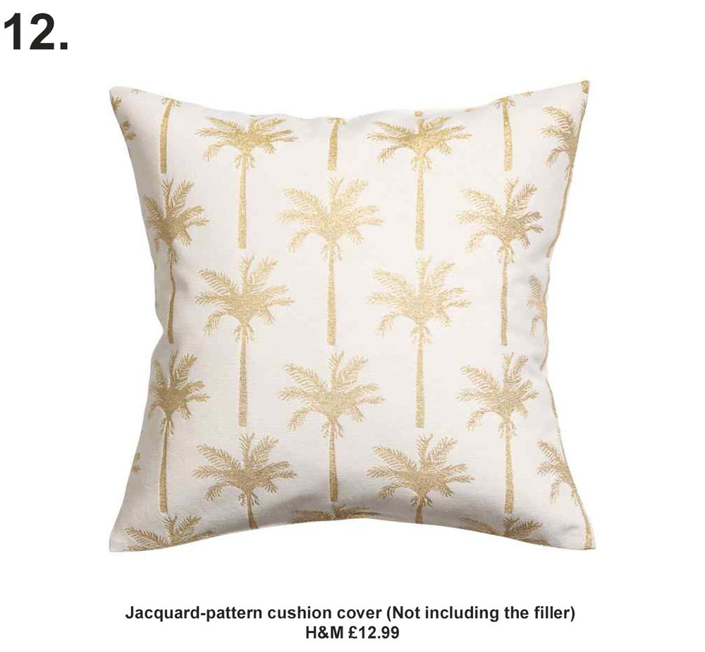 Jacquard-pattern cushion cover H&M £12.99