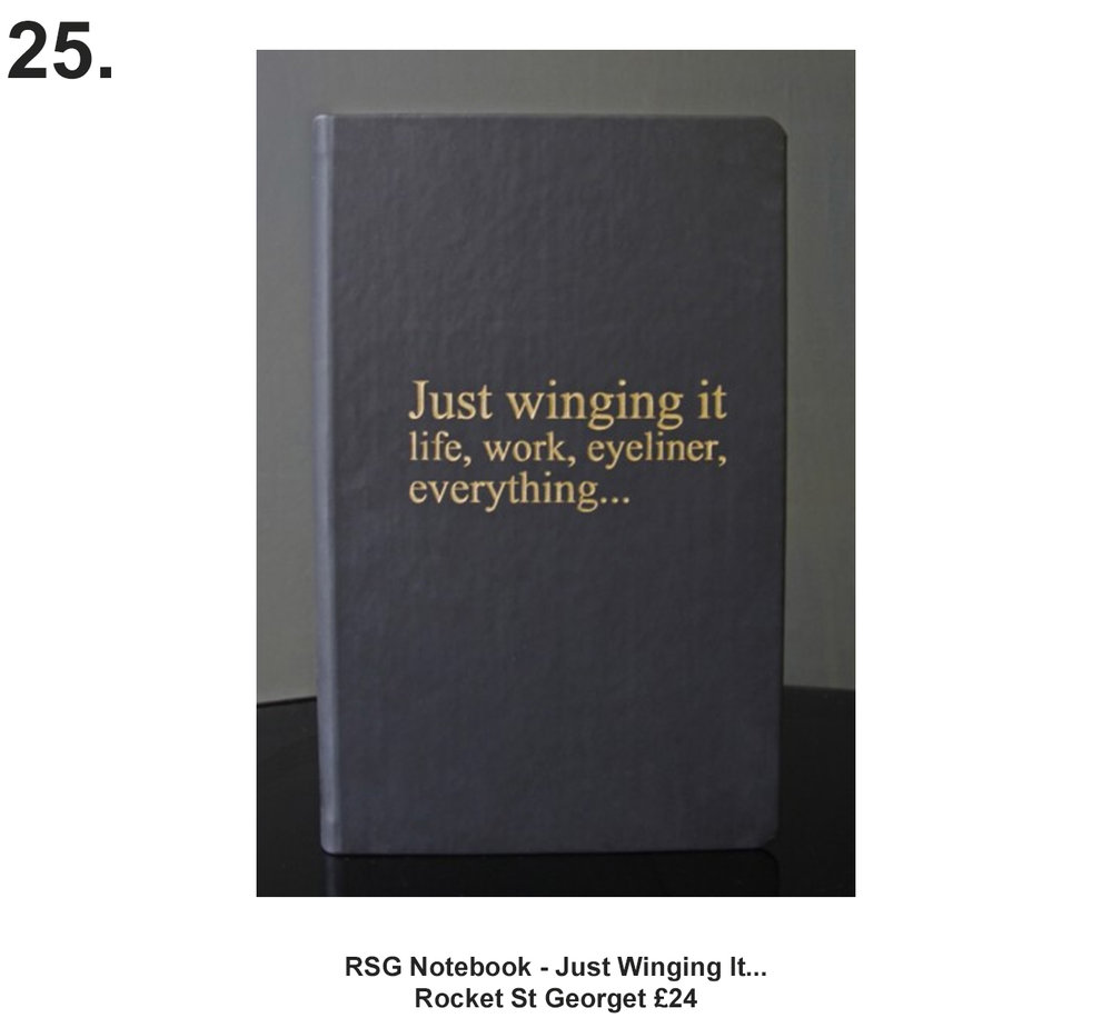 RSG Notebook - Just Winging It... £24