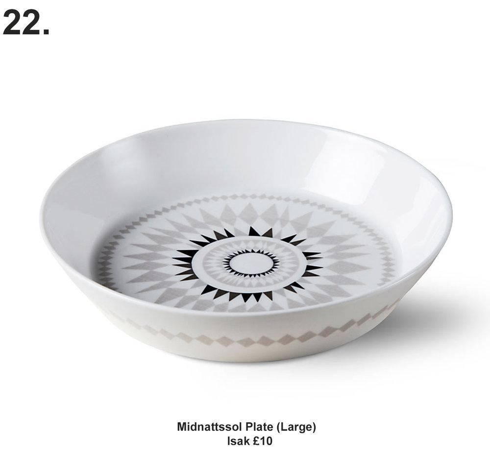 Isak Midnattssol Plate (Large) £10