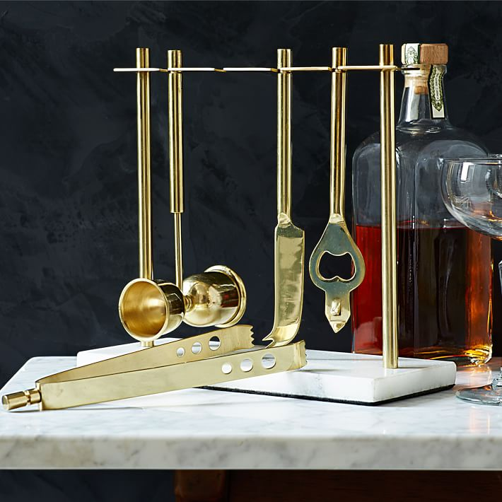 Brass & Marble bar set - West Elm $59