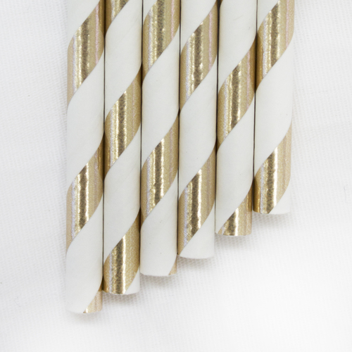 Gold & White metallic paper straws- Amazon £2.99