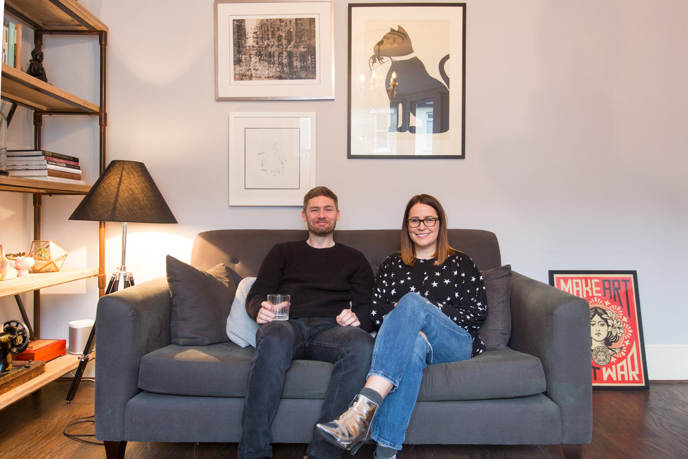 Interior blogger Amanda Cotton (aka House Lust) and her husband Jess Cotton
