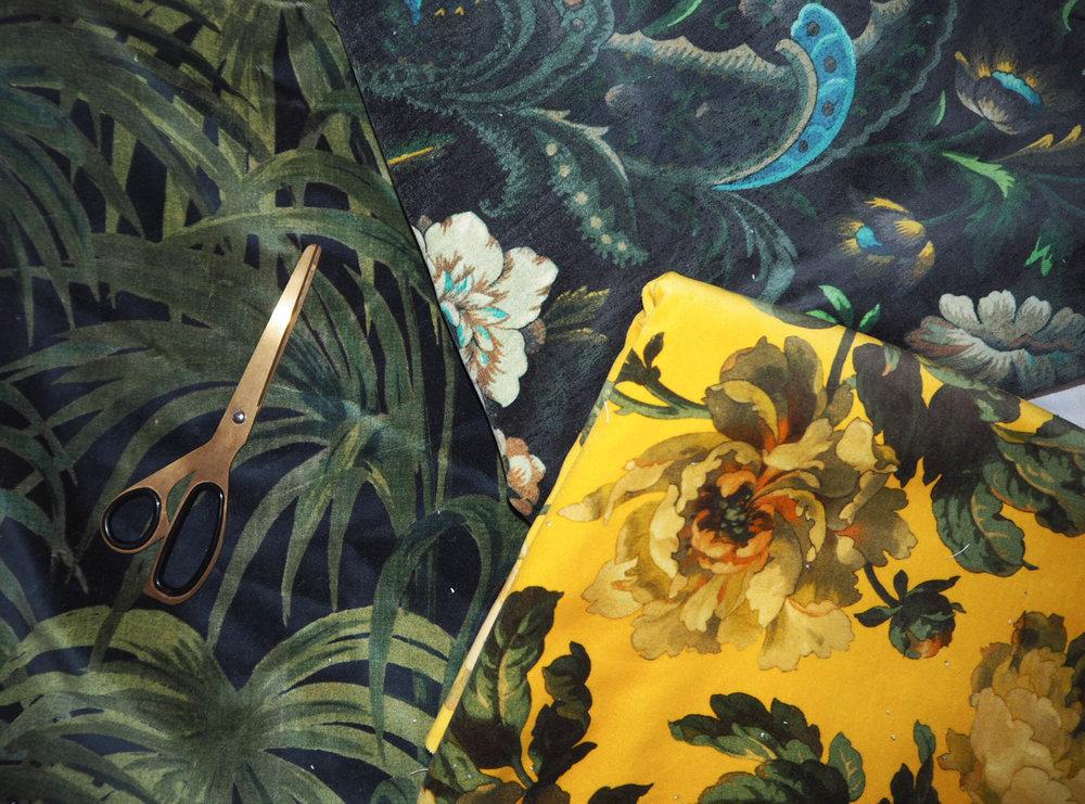 House of Hackney palmeral & Florika printed velvet.