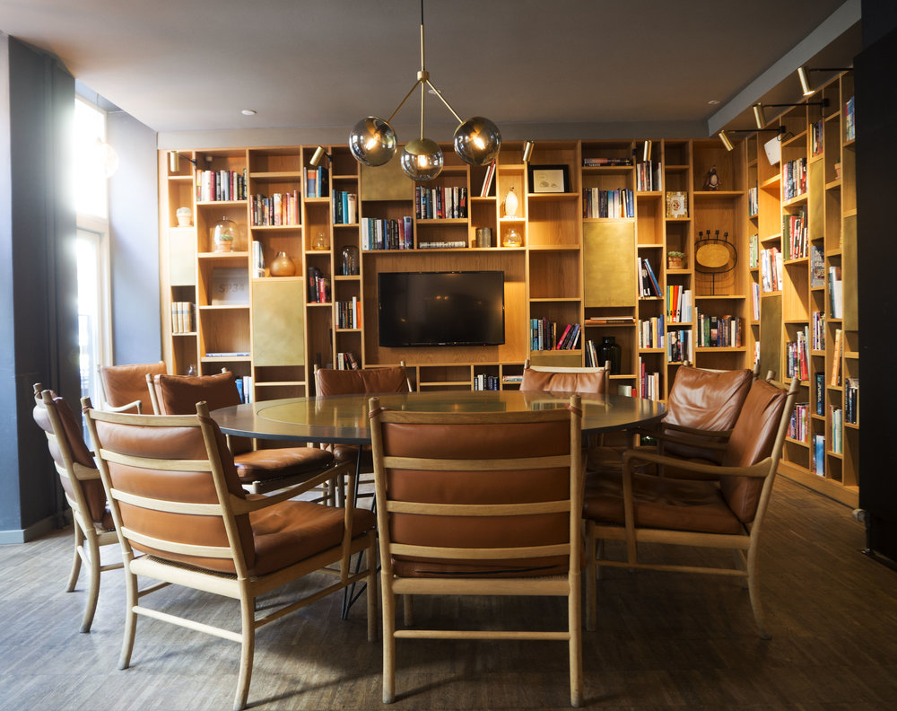 The lounge at the SP34 Hotel, Copenhagen.