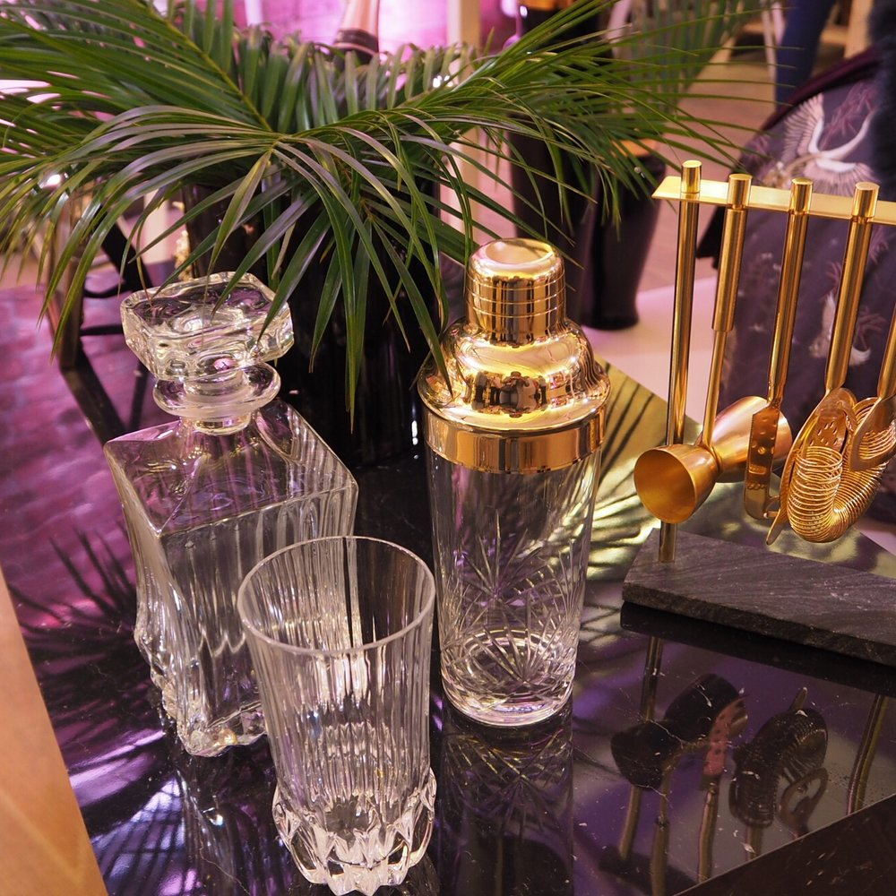 Luxury barware at the House Of Fraser AW17 preview.