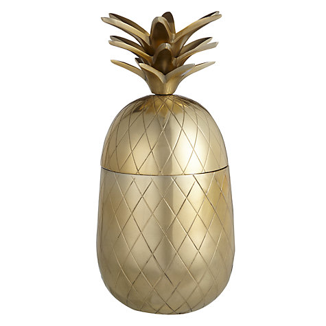 John Lewis large brass pineapple £40