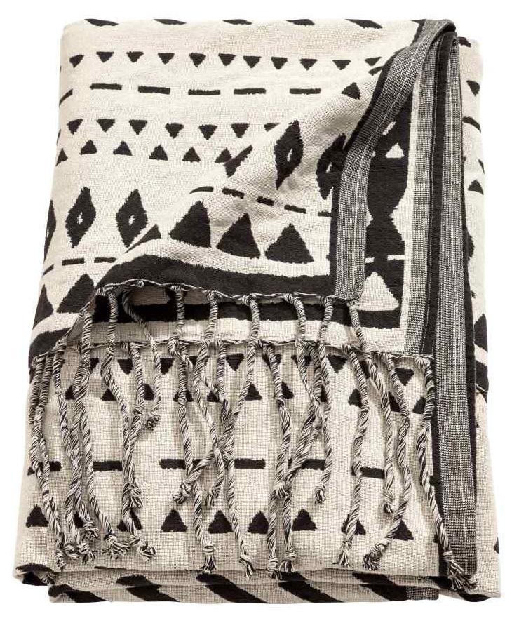 H&M Jacquard weave blanket £34.99