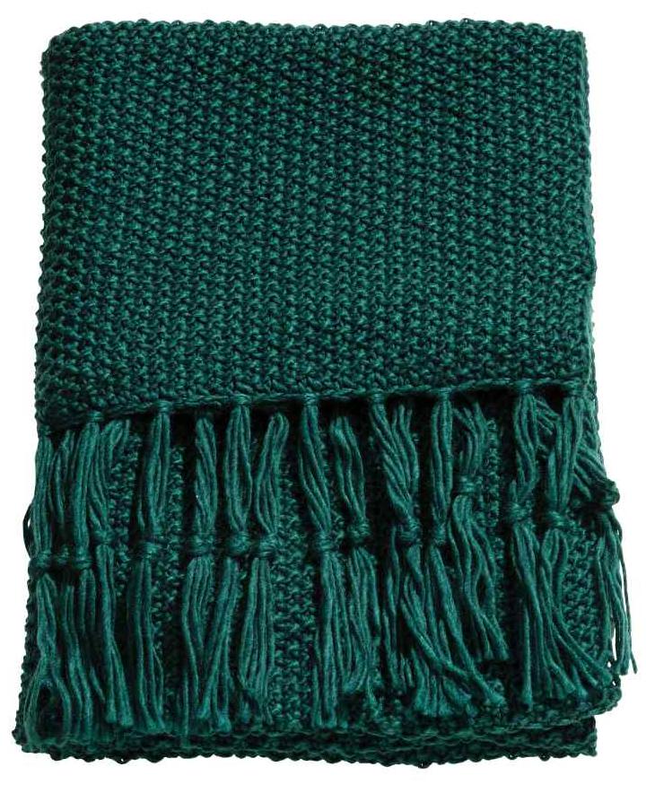 H&M- Moss Green blanket £39.99