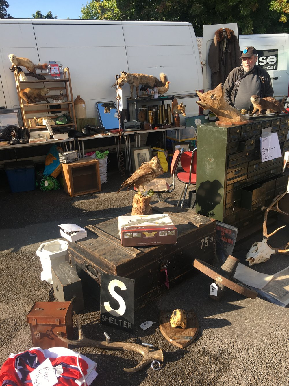 Antique shopping at Kempton Park