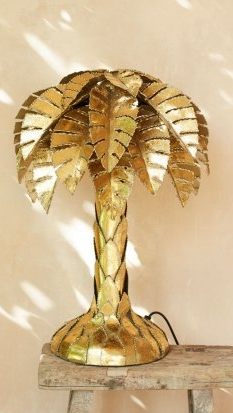Palm tree table lamp £395
