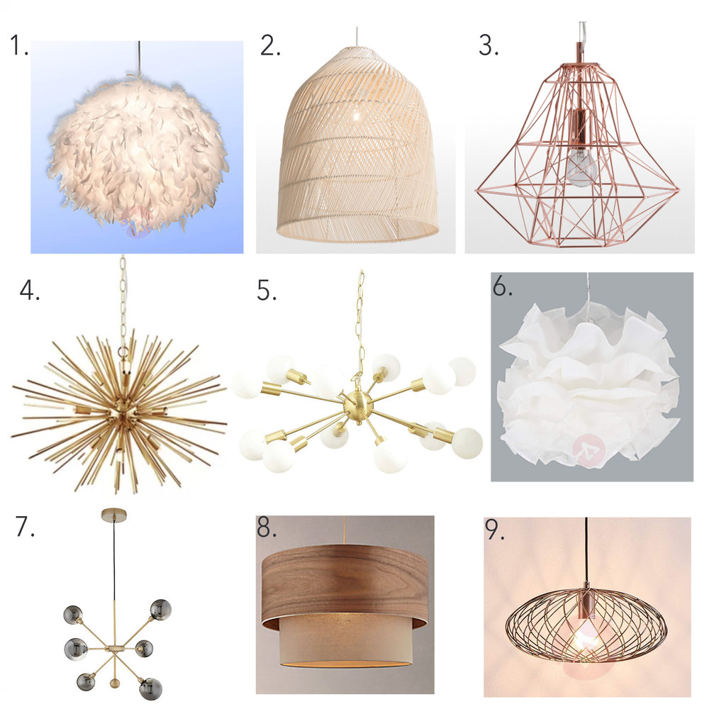 Affordable statement lights under £200