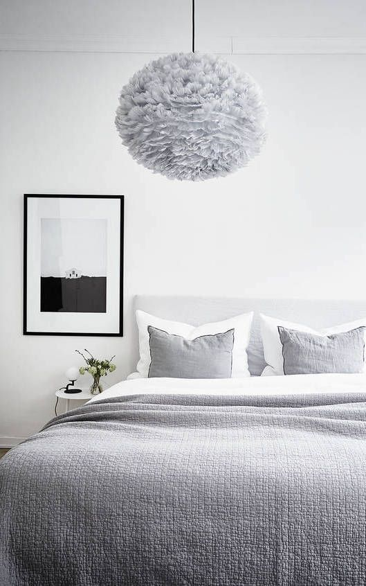 Fluffy light bedroom