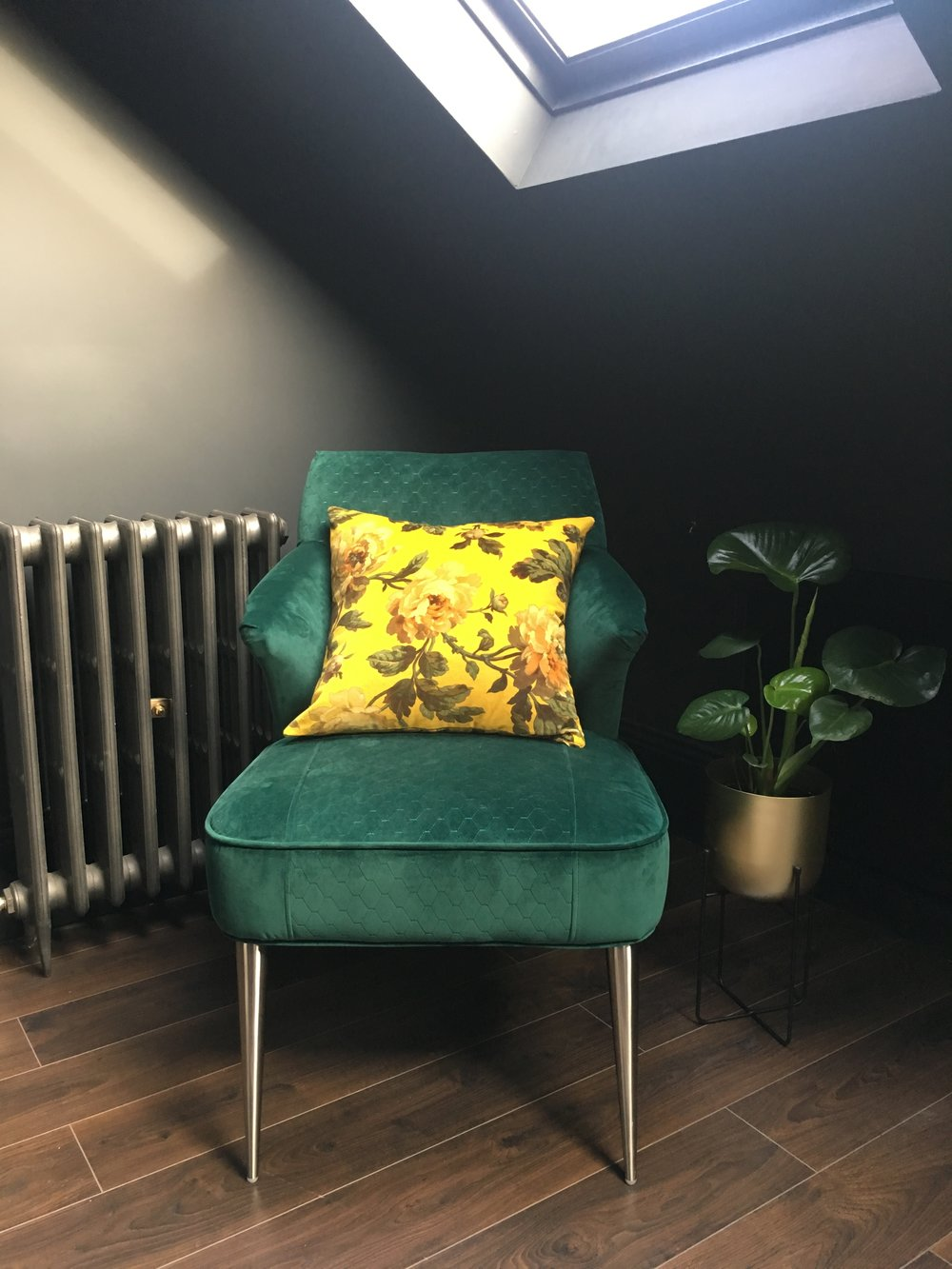 Homesense green velvet chair