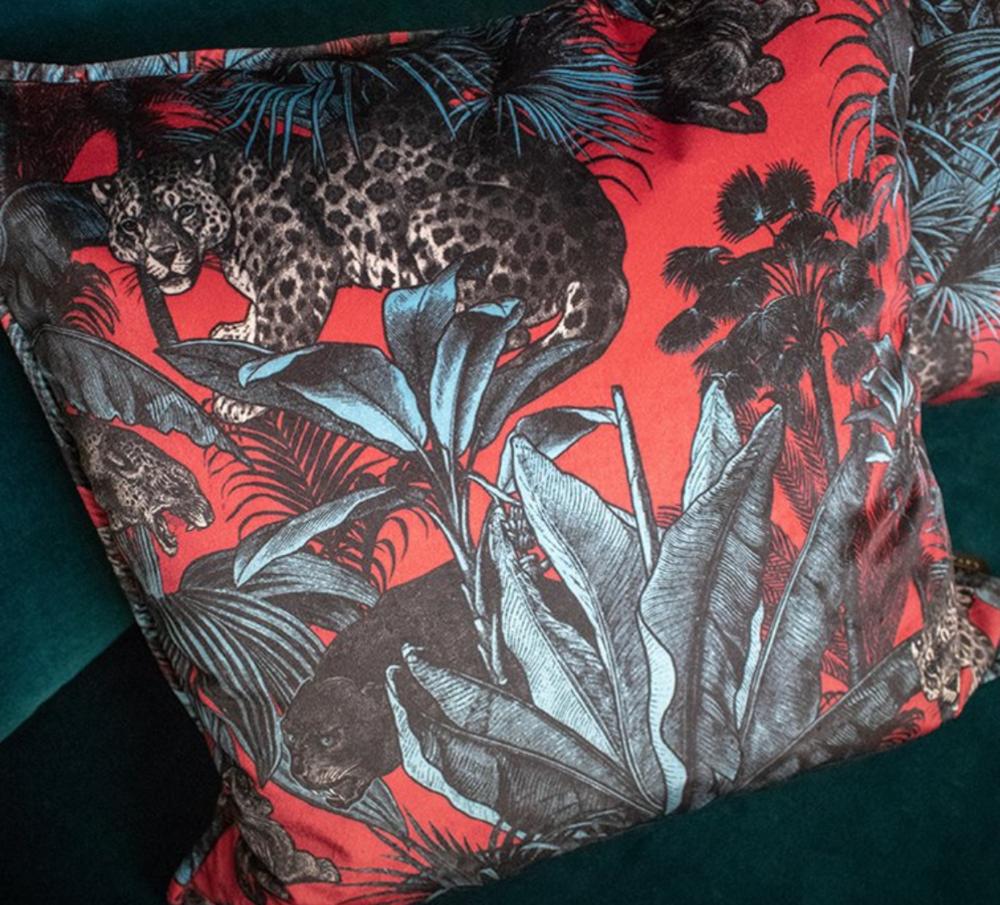 Divine Savages - Faunacation velvet cushion-  £95