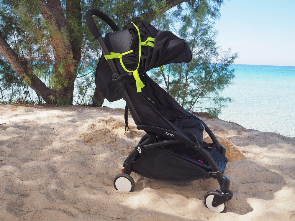Snooze shade on a baby zen yo yo stroller