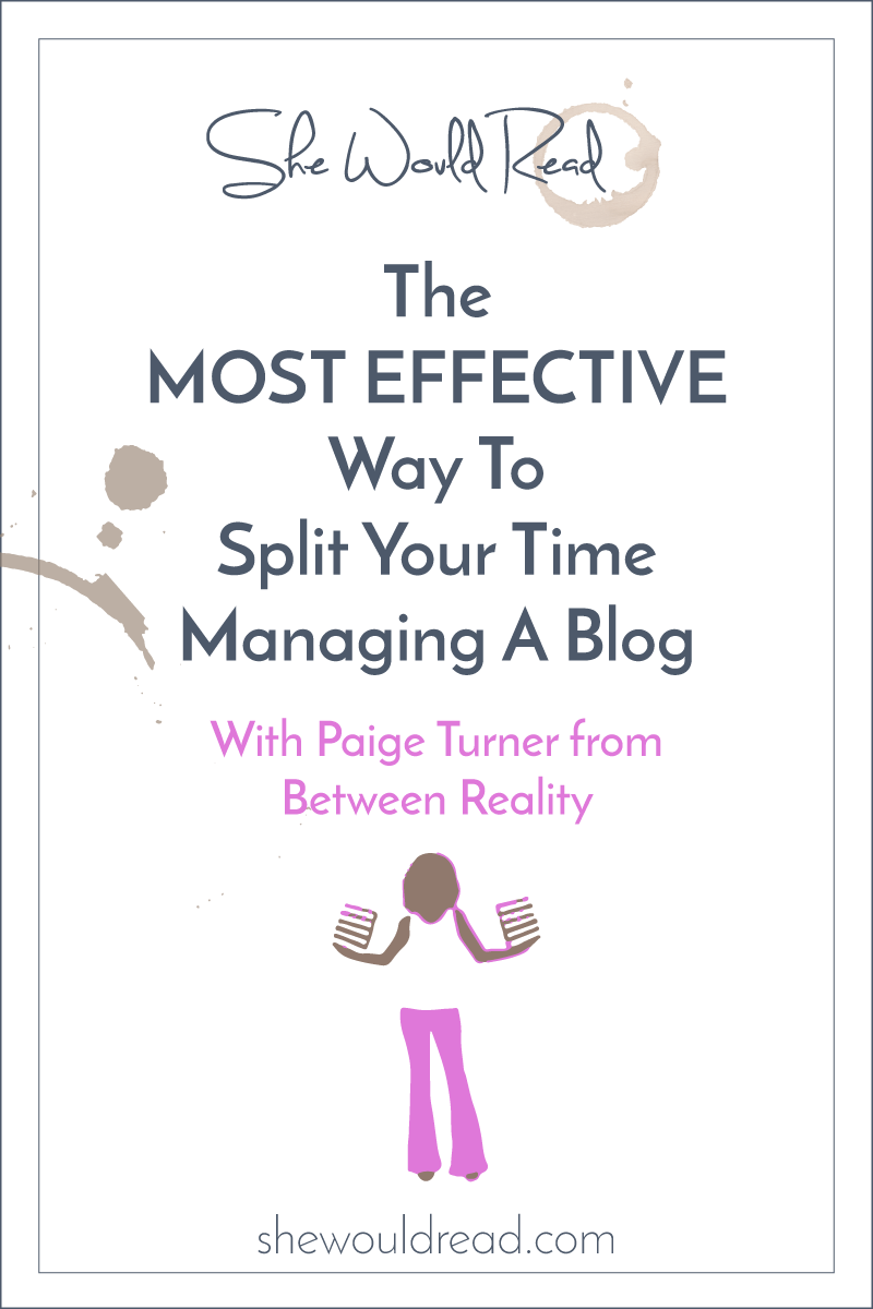 The MOST Effective Way To Split Your Time Managing A Blog -shewouldread.com