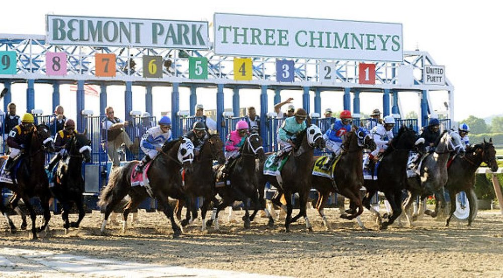 149th Belmont Stakes     Saturday, June 10, 2017 5:00pm     The Belmont Stakes is a thoroughbred horse race held at Belmont Park in Elmont, New York. It is a 1.5-mile-long horse race, open to three-year-old Thoroughbreds. Join us to watch the ponies run and take your chances in a 50/50 raffle. We will have Belmont Jewels to sip on, while you enjoy the race.