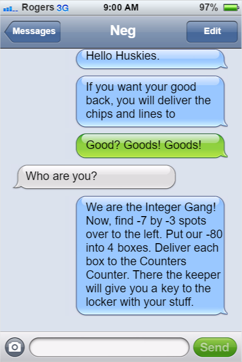 One of the Text Messages