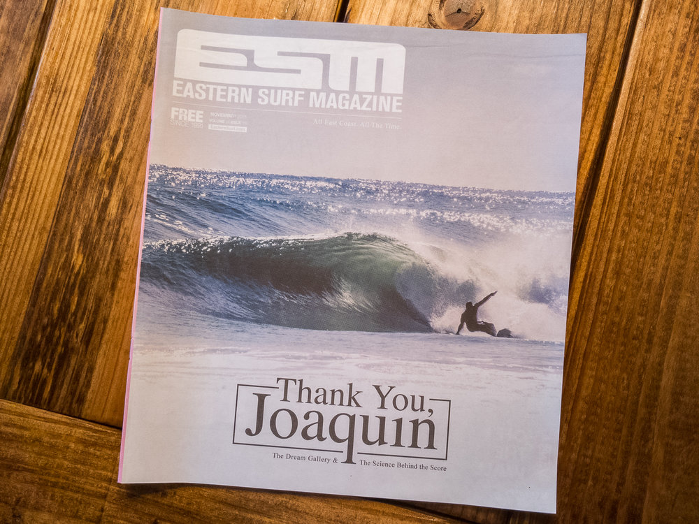 Eastern Surf Magazine  Cover Shot - November 2015
