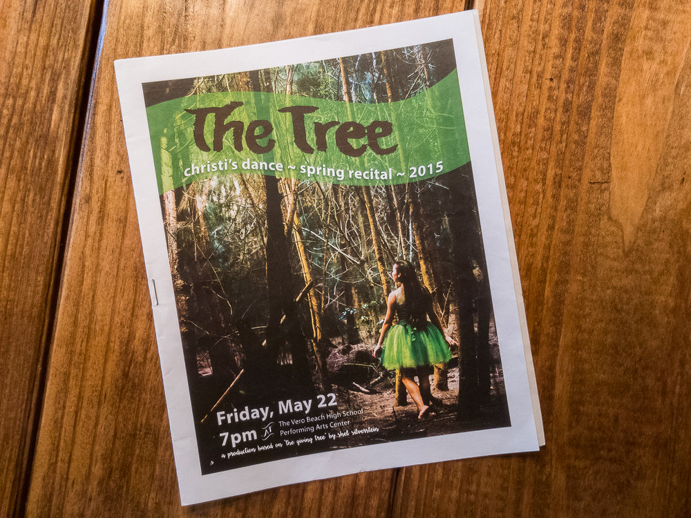 Program for The Tree Dance Recital 2015
