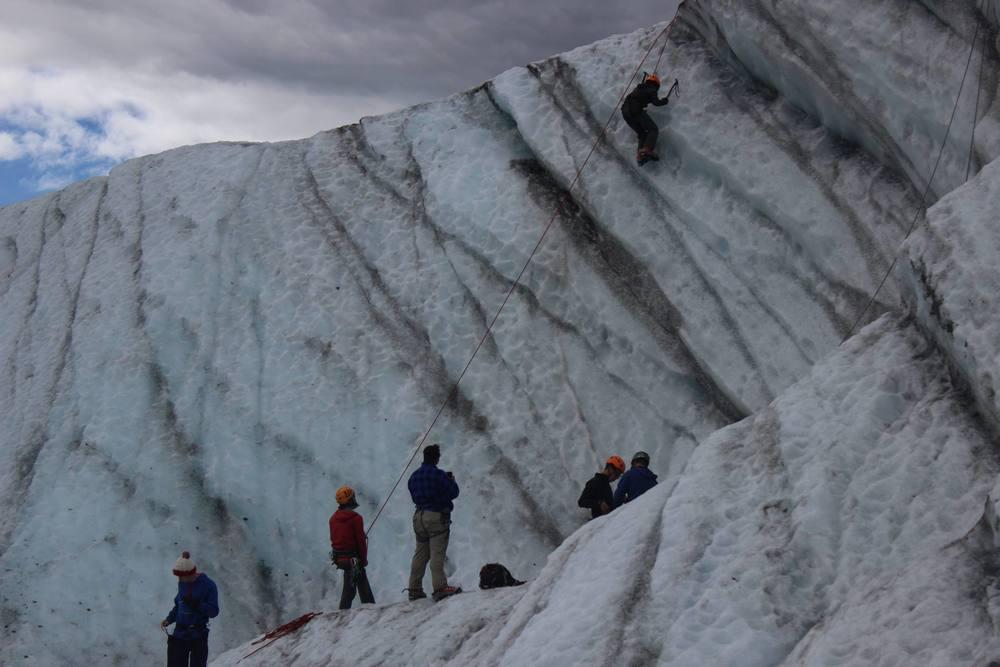 Ice climbing a glacier!