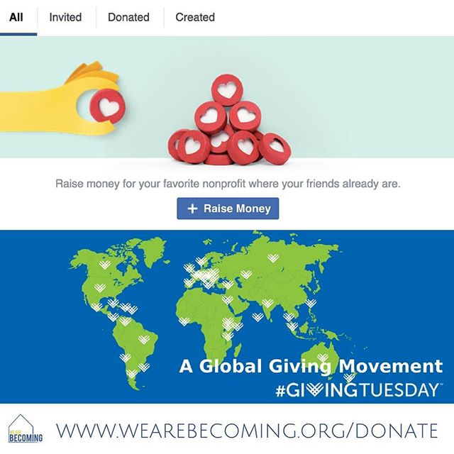 #Givingtuesday Join the global giving movement today by making a donation to We Are Becoming. #givehomegivehope Your donation will help give home to aged-out foster youth in NYC!  You can GIVE by creating a fundraisers for us on your Facebook page! Click Fundraisers in the left menu of your News Feed ➡ click RAISE MONEY and select WE Are Becoming, Inc (Manhasset, NY) Or give directly anytime on our website (link⬆ top)  #wearebecoming #nyc #agedout #fostercare #giveback #welcomehome #homefortheholidays #gratitude #hope #love #faithinspired #tistheseason #goodvibes #goodmorning #tuesdaymotivation