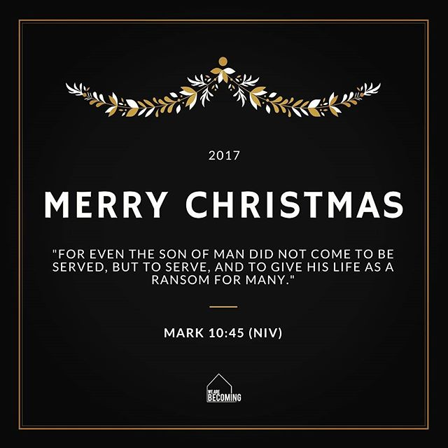 "Christmas reminder & good news to ponder ""... and to give His life as a ransom for many""-- He came for us! WISHING EVERYONE A VERY MERRY CHRISTMAS!!! xo WAB 🎄 . #wearebecoming #nyc  #immanuel #princeofpeace #merrychristmas #xmas #noel #goodnews #gift #miracles #faith #hope #love #joy #peace #laughter #freedom  #newbeginnings"
