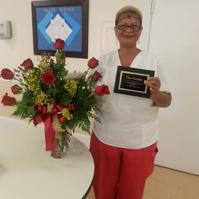 Congratulations to our employee of the month, Cora! Thank you for all you do!