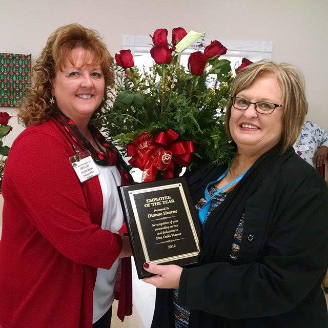 Sweet Mrs. Diane our payroll coordinator and employee of the year! Thank you for all you do!
