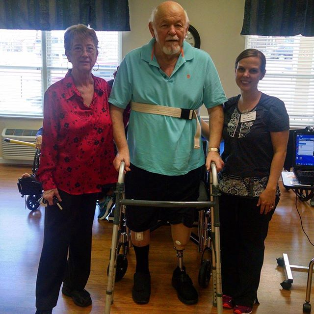 Congratulations to one of our rehab patients for receiving their first prostheic limb! #fiveoaks #rehab #ontheroadhome