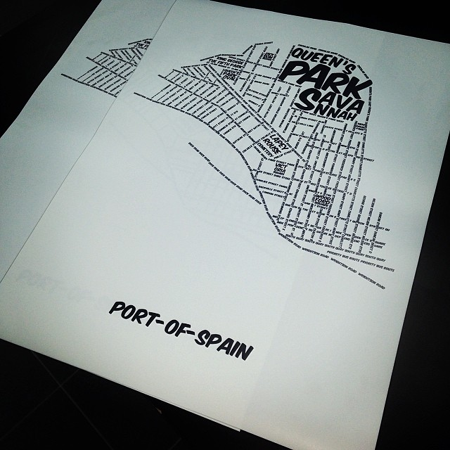 Port of Spain Typographic Map