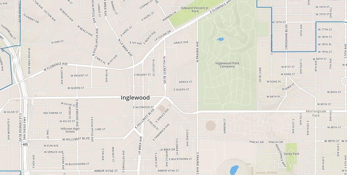 Interactive Map Imagine Inglewood - Inglewood map