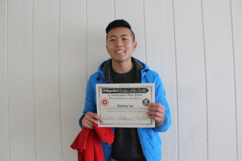 Hey guys! My name is  Danny Le  and it's truly an honor to be nominated as Member of the Month. When I first heard about Key Club, I didn't really take into consideration how much of an awesome club it actually was. This year, my friends exposed the club to me even more.The very first event I went to this year was The Rock N Roll event. During that event I didn't expect to see so many hard working individuals whose main goal is to make the environment and community around us better. Through that event I learned that one should not simply care for himself, but to care for others as well. As weeks passed, I started attending more events. During the events, I met some amazing, unique individuals who share the same mindset I do and they further helped me improve myself. In fact, most of these individuals today are my friends! Through Key Club, I learned the four core values: Caring, Character Building, Inclusiveness, and Leadership. A Key Clubber should always think about these values and try their best to carry them out. I am very thankful for Key Club because it truly changed my perspective on life and what it has to offer. Hopefully, I'll inspire others one day!