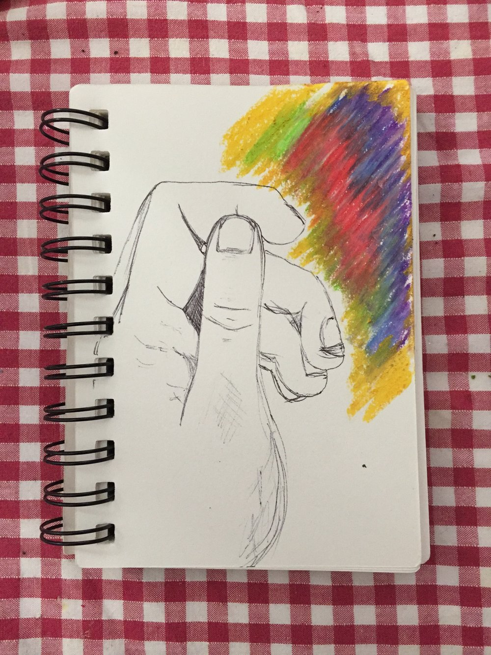 My crappy hand :) I really enjoyed doing this!