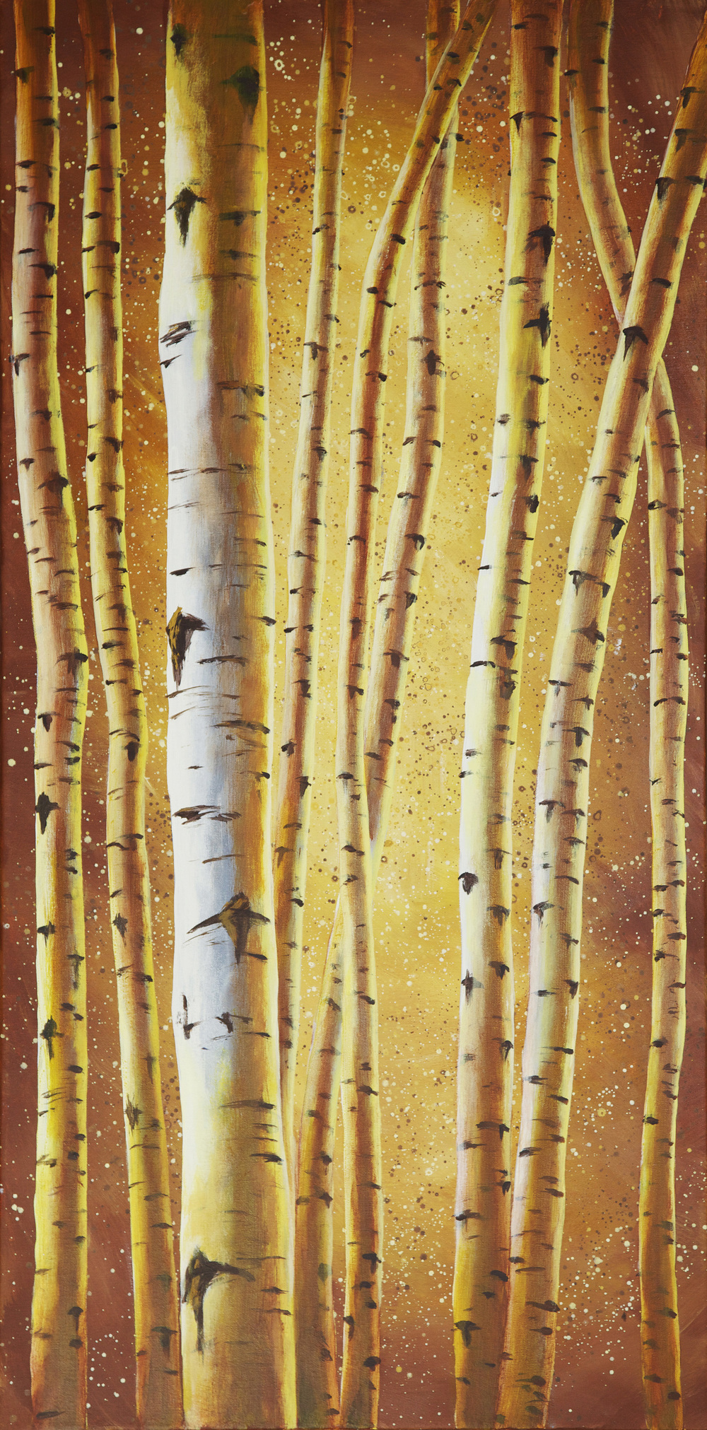 """Into The Birch""                      48"" x 24"" Acrylic on canvas"