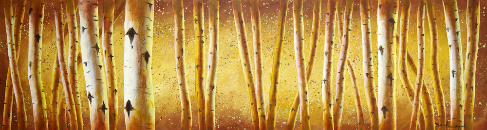 """Into The Birch""                       20"" x 72"" Acrylic on canvas"