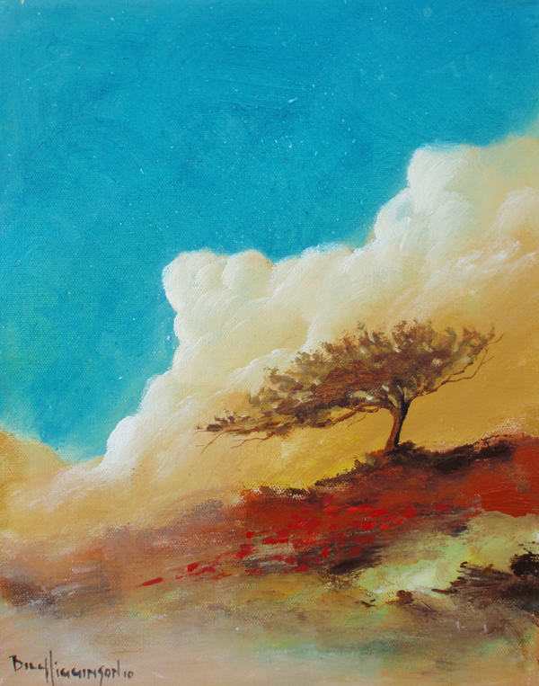 The Dust Storm.Happy tree series acrylic on canvas painting.jpg
