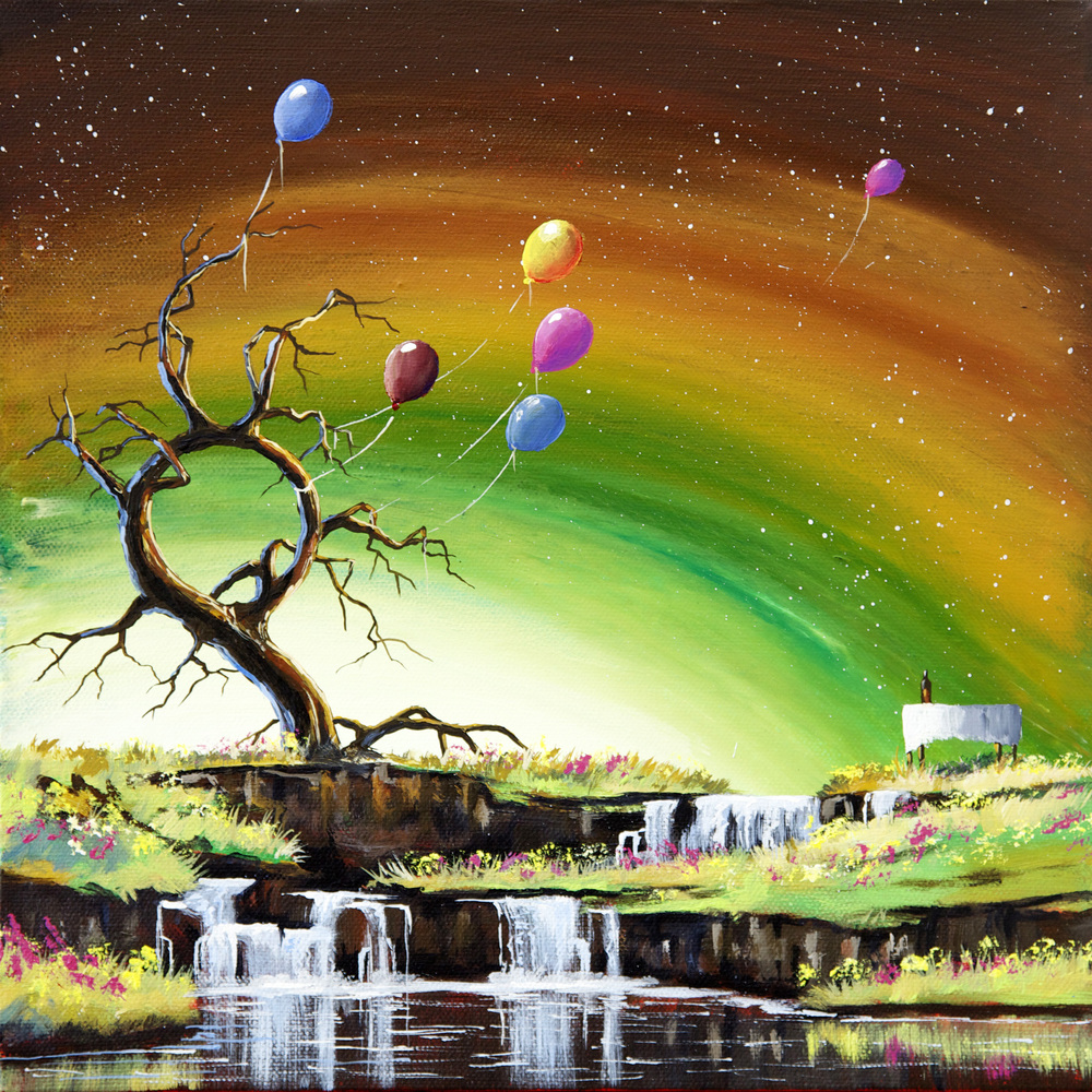 Circle of Life Happy tree series acrylic on canvasa painting.jpg