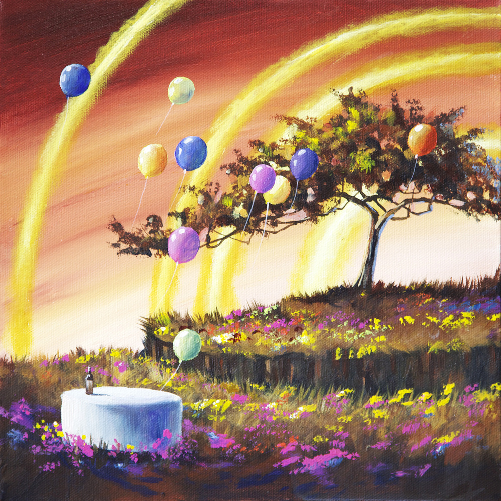 Light Rings Happy tree series acrylic on canvas painting.jpg