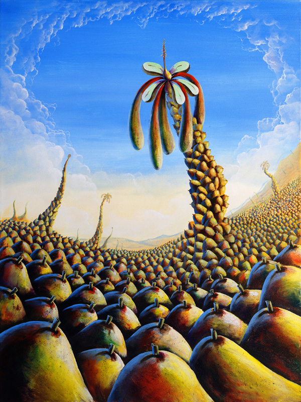 bill_higginson_the seedlings-surrealism_painting-acrylic-painting-pears-fruit-canvas