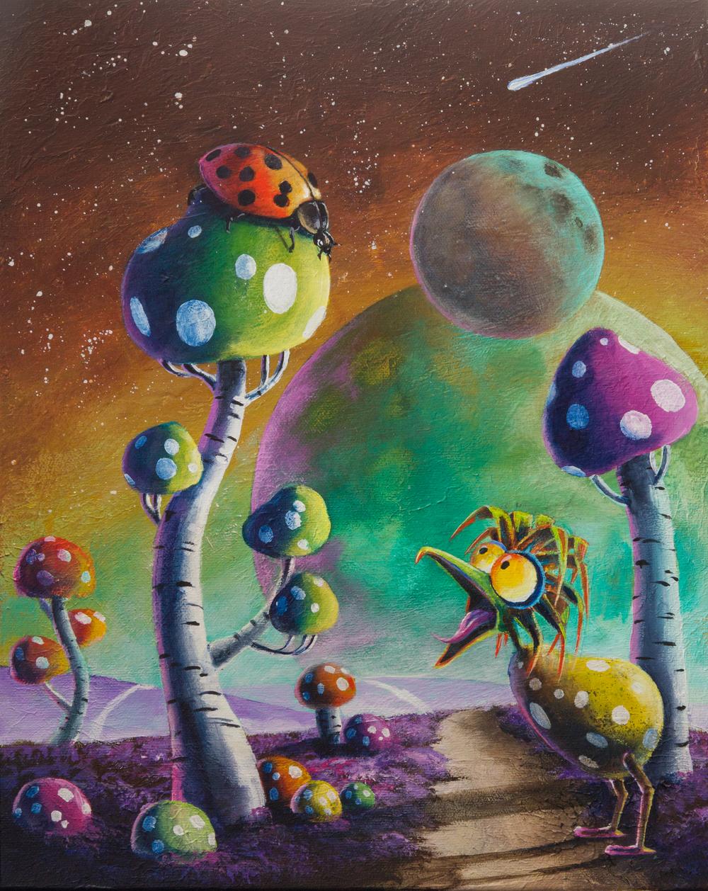 Hide and Seek- Happy tree series acrylic on canvas painting.jpg
