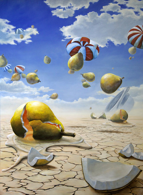 Save Yourself-contemporary-surrealism-art-acrylic-painting-vancouver-artist-william-higginson
