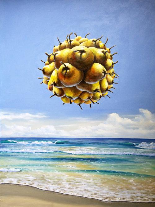 Solar Pear-contemporary-surrealism-art-acrylic-painting-vancouver-artist-william-higginson