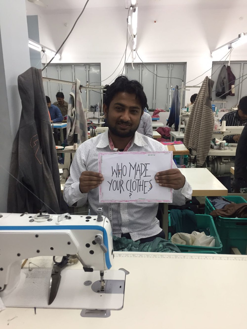 MEET IKBAL MOH - He is the cheeky chap of our 40 strong sewing team. Ikbal has worked for Babulal since the beginning and is a dab hand with a sewing machine. He sings and laughs his way through the day with the biggest smile on his face. He insisted he be the main contender for our snaps so here he is!❤️ #imadeyourclothes