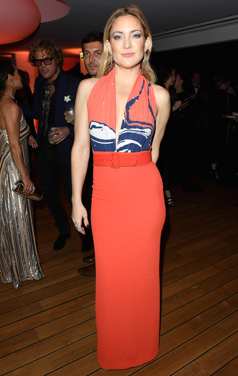 Kate Hudson in Cannes, rocking tangerine Solace London
