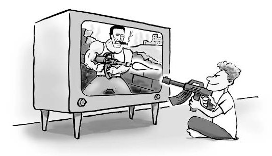 media violence and cartoons Typically, children begin watching cartoons on television at an early age of   frequency of violence in cartoons is higher than in live-action dramas or comedy.